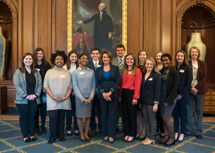 WISE Interns-with-Nancy-Pelosi